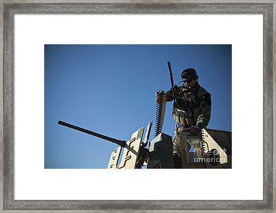 An Afghan National Army Soldier Framed Print by Stocktrek Images