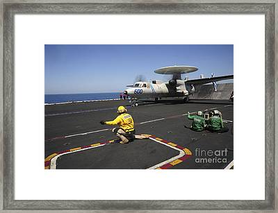 An E-2c Hawkeye Launches Framed Print by Stocktrek Images