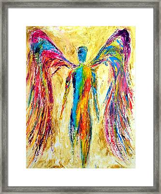 Angel Of Color Framed Print by Ivan Guaderrama