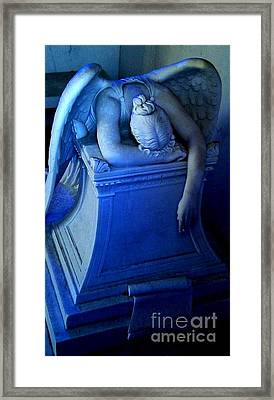 Framed Print featuring the photograph Angelic Sorrow by Michael Hoard