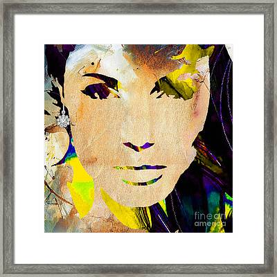 Angelina Jolie Diamond Collection Framed Print by Marvin Blaine