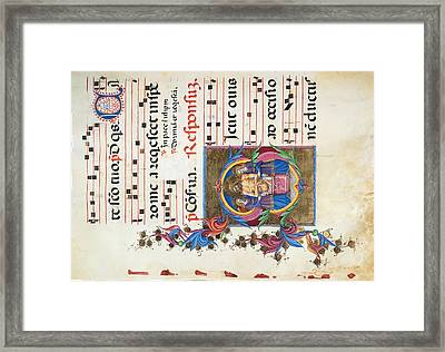 Anonymous Sienese Painter, Diurnal Framed Print by Everett