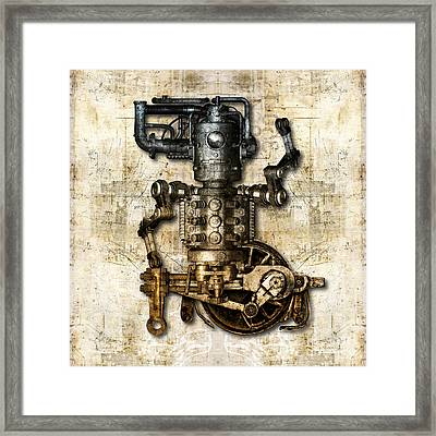 Antique Mechanical Figure Framed Print by Diuno Ashlee