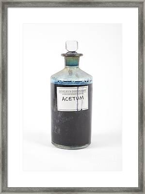 Antique Pharmacy Bottle Framed Print