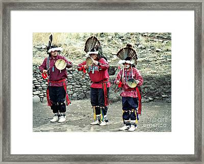 Framed Print featuring the photograph Apache Crown Dancers by Juls Adams