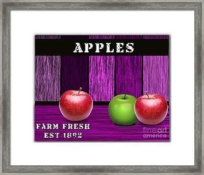 Apple Farm Framed Print by Marvin Blaine