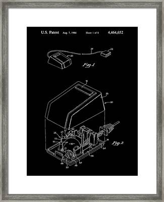 Apple Mouse Patent 1984 - Black Framed Print by Stephen Younts