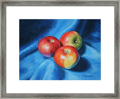3 Apples Framed Print by Marna Edwards Flavell