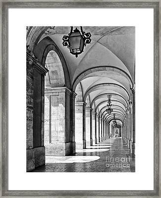 Arcades Of Lisbon Framed Print by Jose Elias - Sofia Pereira