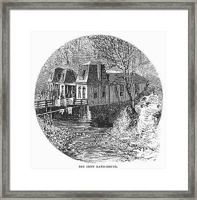 Arkansas Hot Springs, 1878 Framed Print