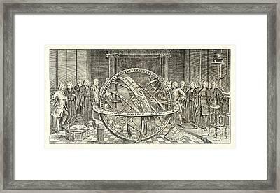 Armillary Sphere, 18th Century Artwork Framed Print
