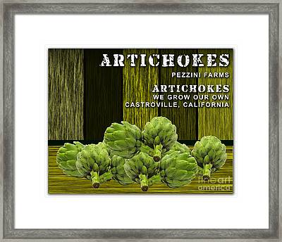 Artichokes Farm Framed Print by Marvin Blaine