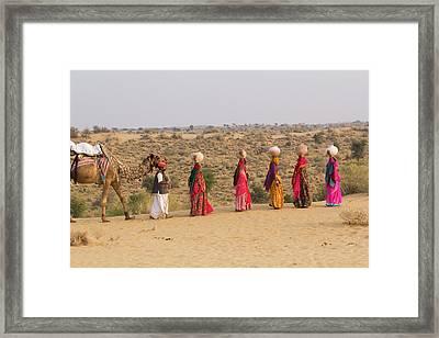 Asia, India, Rajasthan, Manvar, Desert Framed Print by Emily Wilson