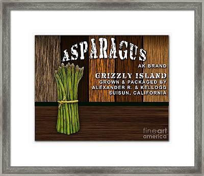 Asparagus Farm Framed Print