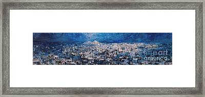 Athens Is Sleeping Framed Print by Jelena Ignjatovic