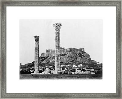 Athens Olympian Zeus Framed Print by Granger