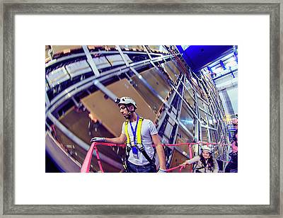 Atlas Detector Framed Print by Babak Tafreshi