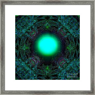Framed Print featuring the digital art Attraction Of The Light by Hanza Turgul