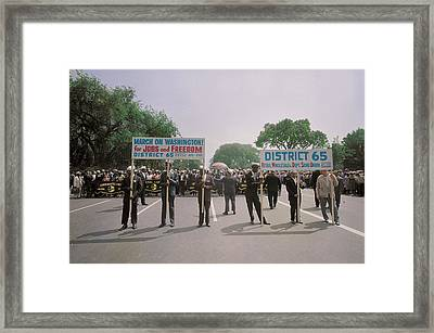 August 28, 1963 - Marchers Carrying Framed Print