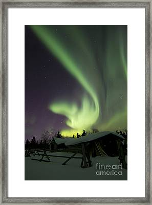 Aurora Borealis And The Big Dipper Framed Print by Joseph Bradley