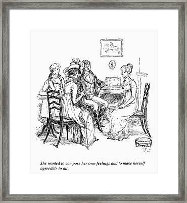 Austen Pride & Prejudice Framed Print by Granger
