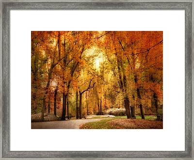 Autumn Impressions Framed Print by Jessica Jenney