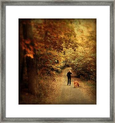 Autumn Stroll Framed Print by Jessica Jenney