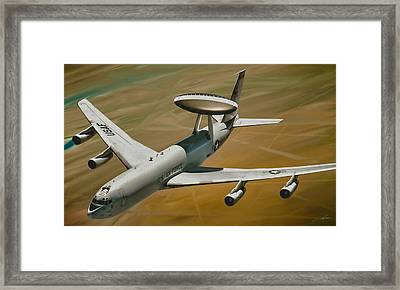 Awacs Up For A Drink Framed Print by Dale Jackson