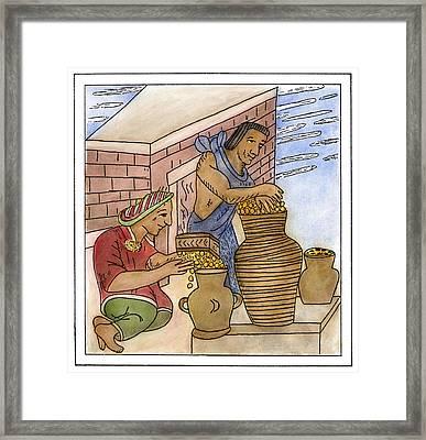 Aztec Farmers Framed Print by Granger