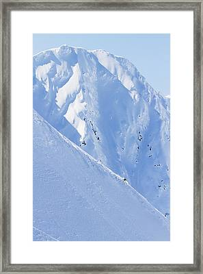 Backcountry Skiing In The Chugach Framed Print by Scott Dickerson