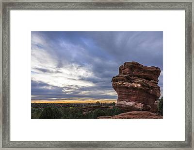 Balanced Rock At Sunrise - Garden Of The Gods - Colorado Springs Framed Print by Brian Harig