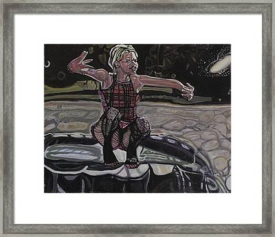 Balancing The Universe Framed Print by Peter Strasser