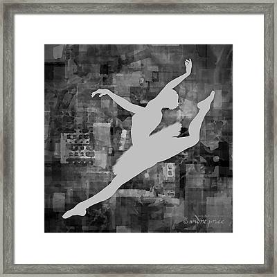 Ballerina Silhouette - Ballet Move 6 Framed Print by Andre Price
