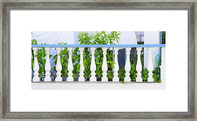Balustrade Wall Framed Print by Tom Gowanlock