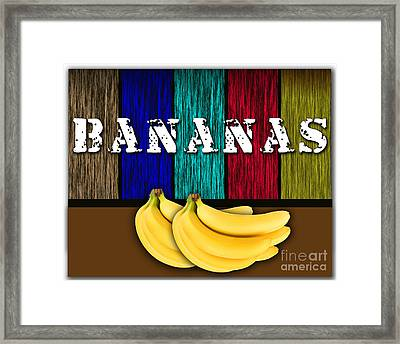 Bananas Framed Print by Marvin Blaine