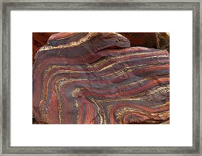 Banded Iron Formation Framed Print
