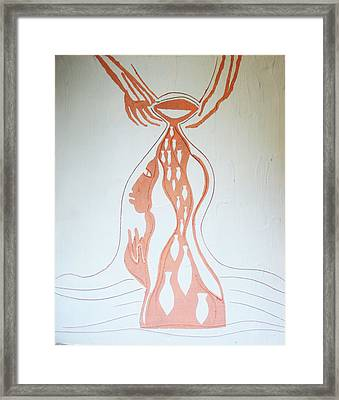 Baptism Of The Lord Jesus Framed Print by Gloria Ssali