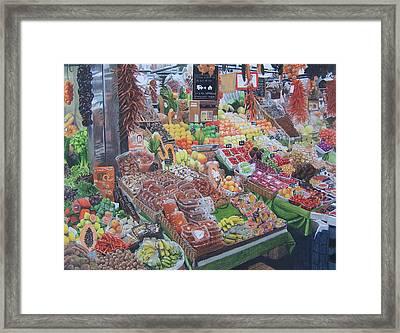 Barcelona Market Framed Print