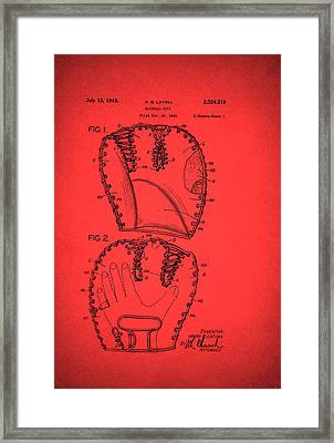 Baseball Glove Patent 1943 Framed Print by Mountain Dreams