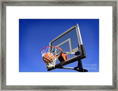 Basketball Shot Framed Print