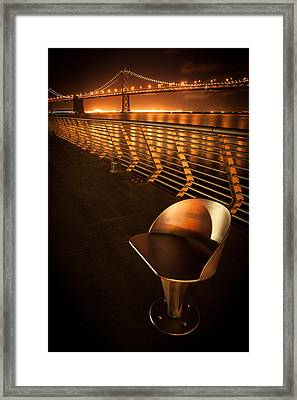 Bay Bridge At Night Framed Print
