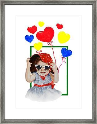 Be My Valentine Framed Print by Irina Sztukowski