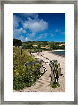Beach At Cushendun Framed Print