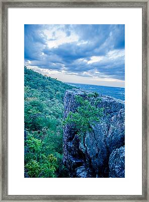 Beautiful Aerial Landscape Views From Crowders Mountain Near Gas Framed Print