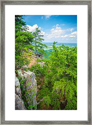 Beautiful Aerial Landscape Views From Crowders Mountain North Ca Framed Print