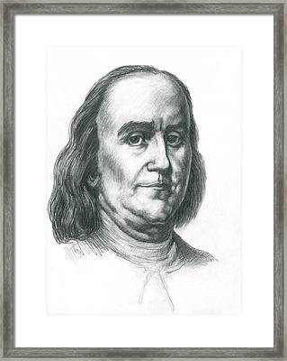 Benjamin Franklin Framed Print by Spencer Sutton