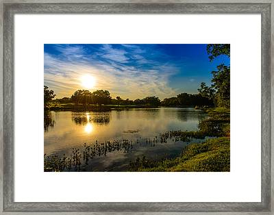 Berry Creek Pond Framed Print by John Johnson