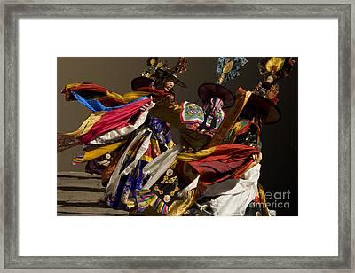 Framed Print featuring the digital art Bhutanese Festival by Angelika Drake