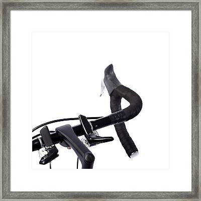 Bicycle Handlebars Framed Print by Science Photo Library