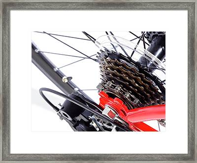 Bicycle Rear Gears Framed Print